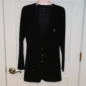 Black cardigan with silver details